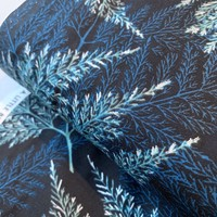 Cotton Winter Branches Metallic Silver