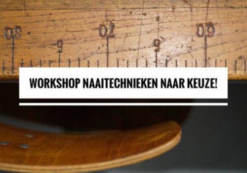 Workshop naaitechnieken naar keuze 8 en 22 januari