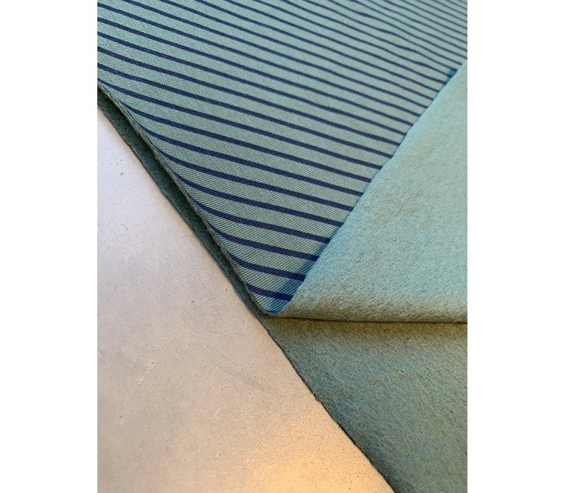 Sweater Turquoise Blue Diagonal Stripes