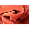 De Stoffenkamer Stretch rib Met Brede Ribbel Rusty Orange