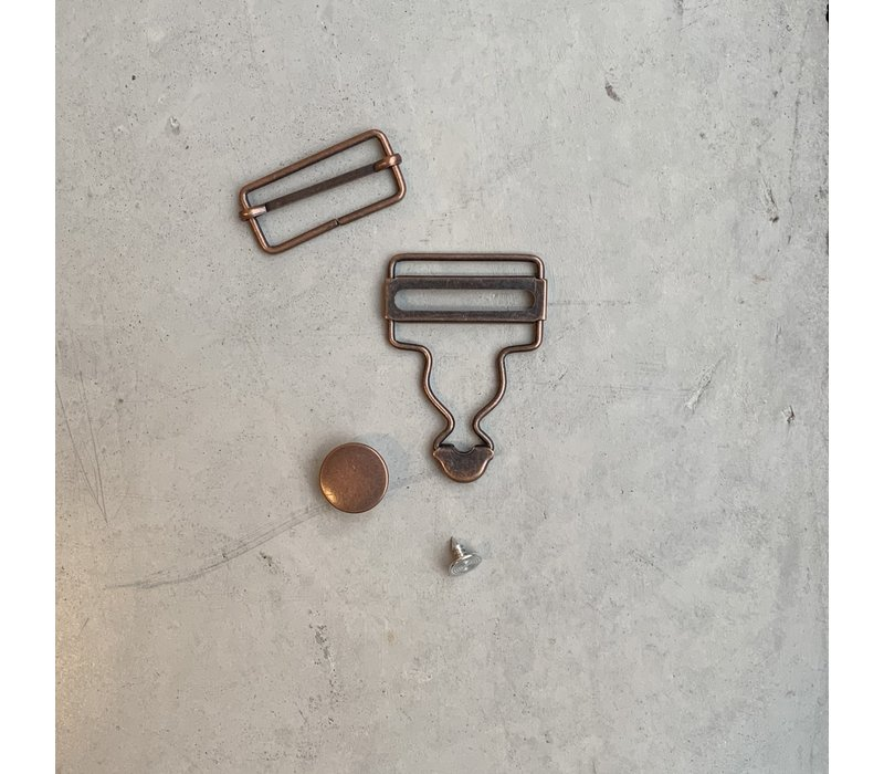 Salopette Sluiting Oud Koper 2stuks 35mm