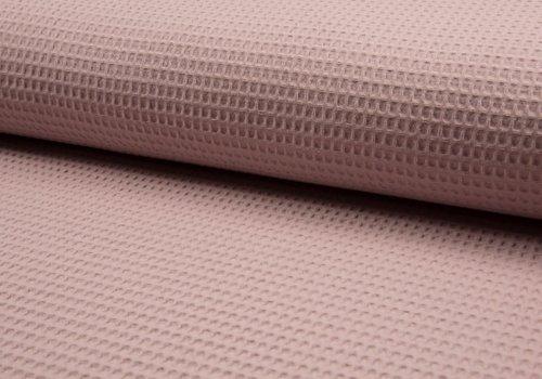 De Stoffenkamer Wafel Katoen dusty pink