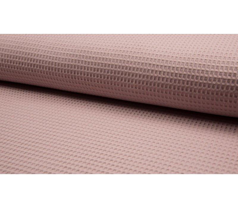 Wafel Katoen dusty pink
