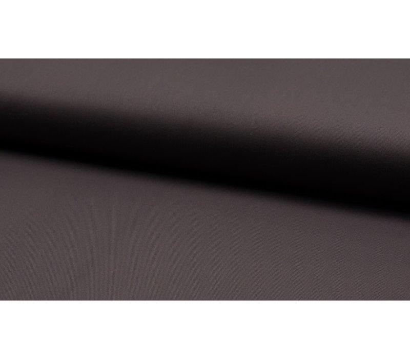Canvas gabardine donkergrijs