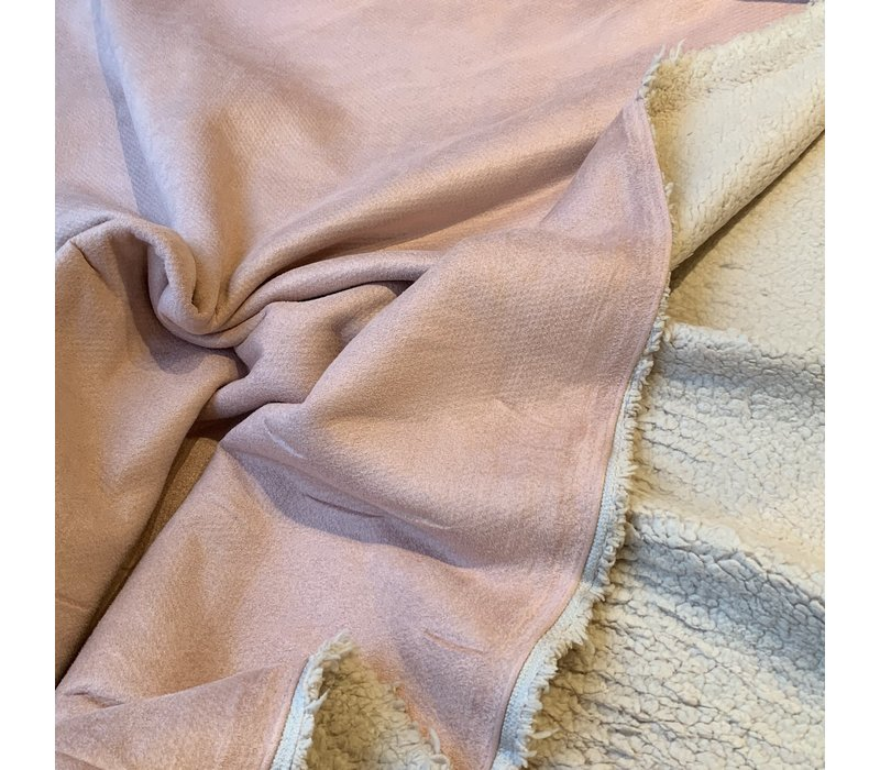 Double Face Suede Teddy Pink