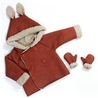 Double Face Suede Teddy Roest