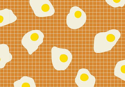 Moda Cotton Ruby Star - Ocre eggs grid