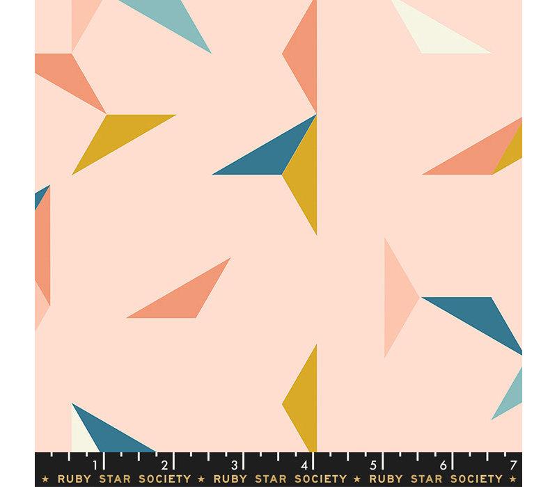 Cotton Ruby Star - Pink Tangram