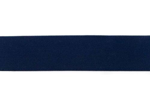 De Stoffenkamer Taille Elastiek 40mm marine blauw