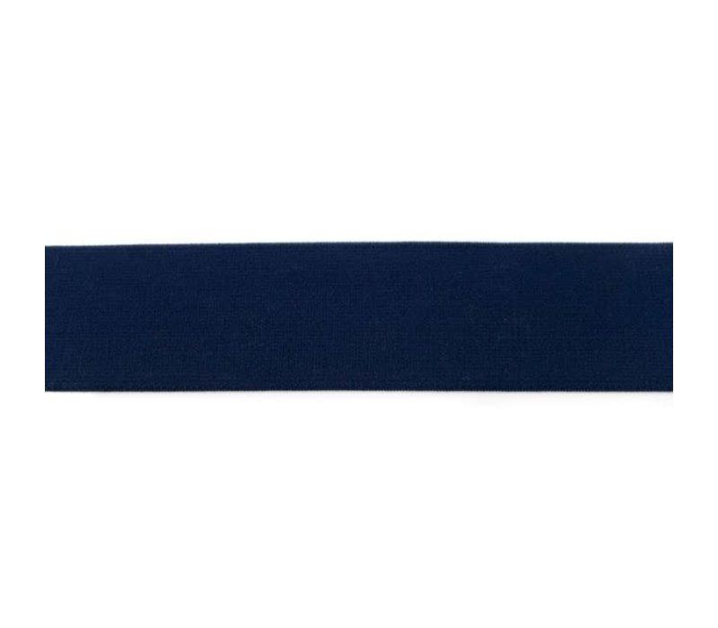 Taille Elastiek 40mm marine blauw