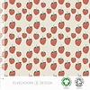 Elvelyckan Bio tricot - Strawberries creme