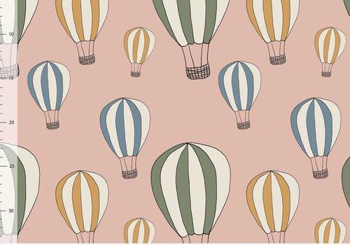 Elvelyckan Bio tricot - airballoon dusty pink