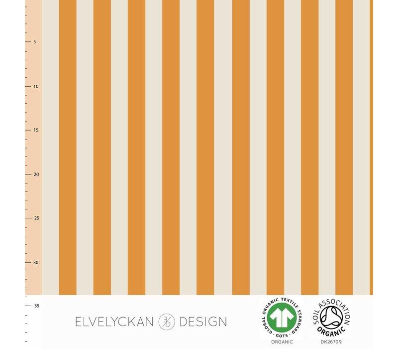 Bio tricot - vertical orange creme