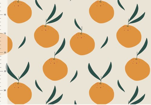 Elvelyckan Bio tricot - oranges creme