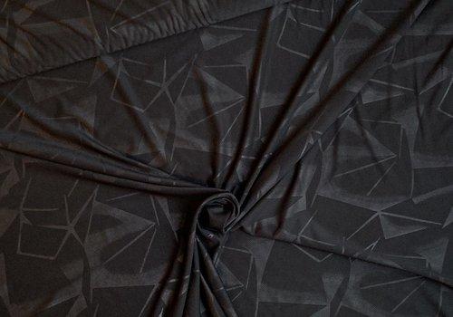 De Stoffenkamer Sportswear - jersey geo black