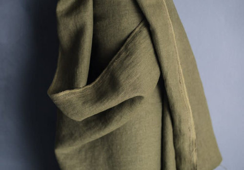merchant&mills Washed Linen Heavy - spruce green