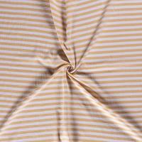 Double Gauze Tetra stripes oker