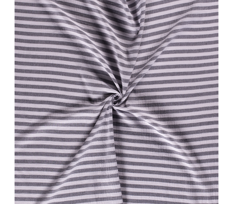 Double Gauze Tetra stripes navy
