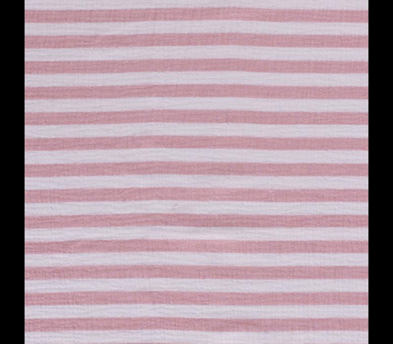 Double Gauze Tetra stripes pink
