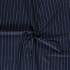 De Stoffenkamer Linen Mix Pin Stripe Navy