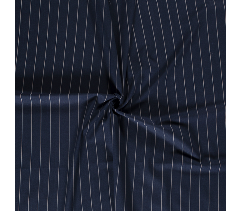 Linen Mix Pin Stripe Navy