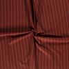 De Stoffenkamer Linen Mix Pin Stripe Rust