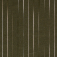 Linen Mix Pin Stripe Moss