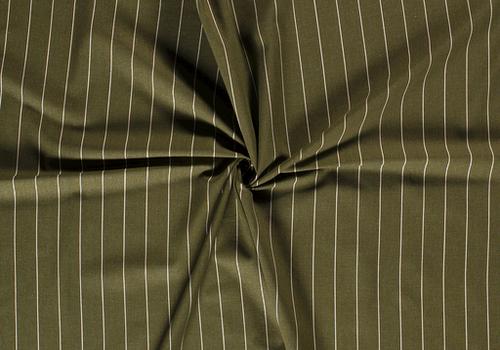 De Stoffenkamer Linen Mix Pin Stripe Moss