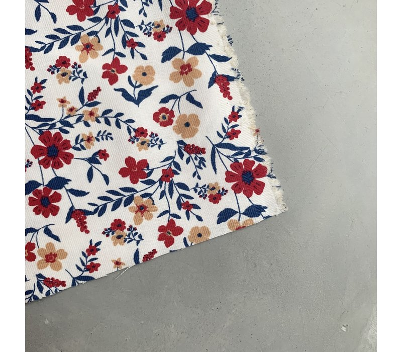 Canvas twill gabardine flower field