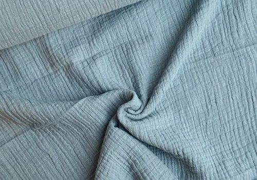 De Stoffenkamer Linen double gauze Minty Blue