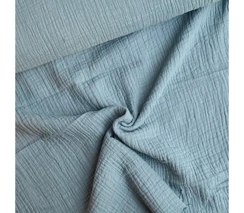 Linen double gauze Minty Blue