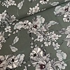 De Stoffenkamer Linen Mix Washed Khaki Flowers
