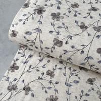 Linen Jersey Small Flowers
