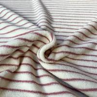 Rekbare badstof - spons Stripes pink