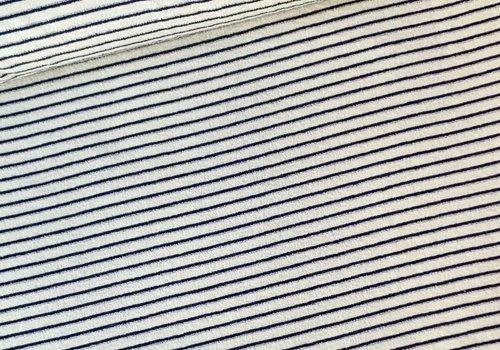 De Stoffenkamer Rekbare badstof - spons Stripes Denim