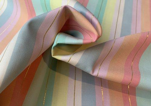 Hoffman Cotton Pastel Lurex Stripes
