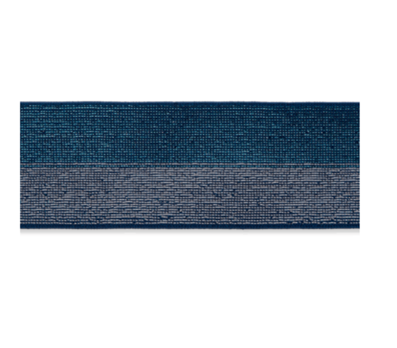 Taille Elastiek 40mm Glitter Blauw