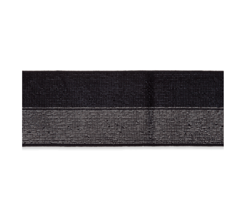 Taille Elastiek 40mm Glitter Zwart