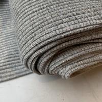 Boordstof Heavy Rib Lurex Grey