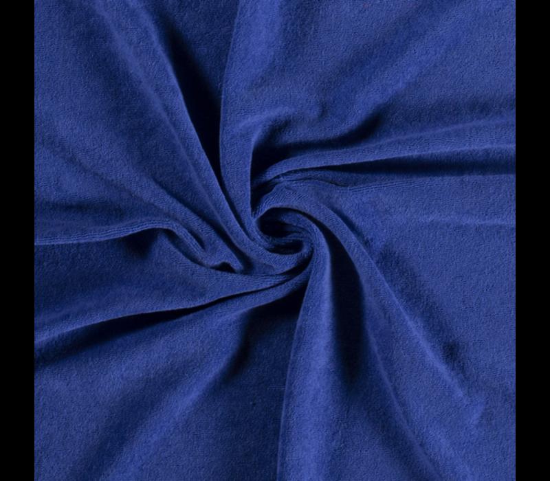 Rekbare badstof - spons Koningsblauw
