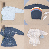 Patroon Teddy sweater (jurk) & playsuit