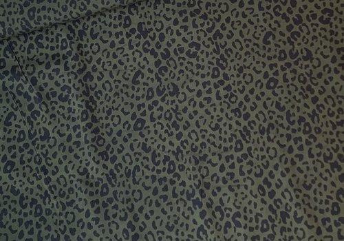 Blouse viscose Khaki Leopard