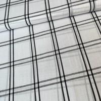 Viscose linenlook checks white