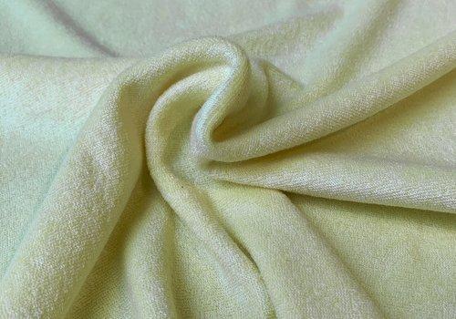 De Stoffenkamer Rekbare badstof - spons Pastel Geel