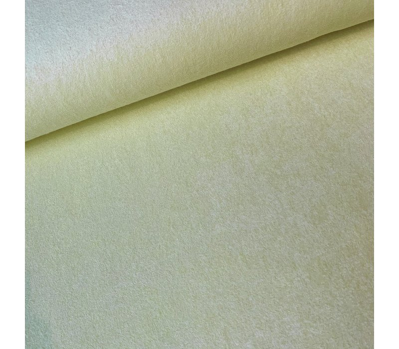 Rekbare badstof - spons Pastel Geel