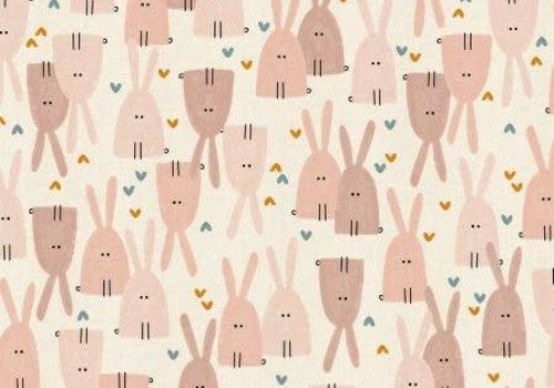Cotton + Steel Cotton Dear Friends - Pink