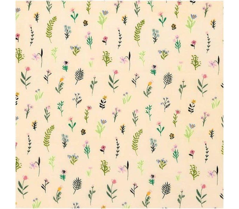 Cotton Natural Botanic Flowers