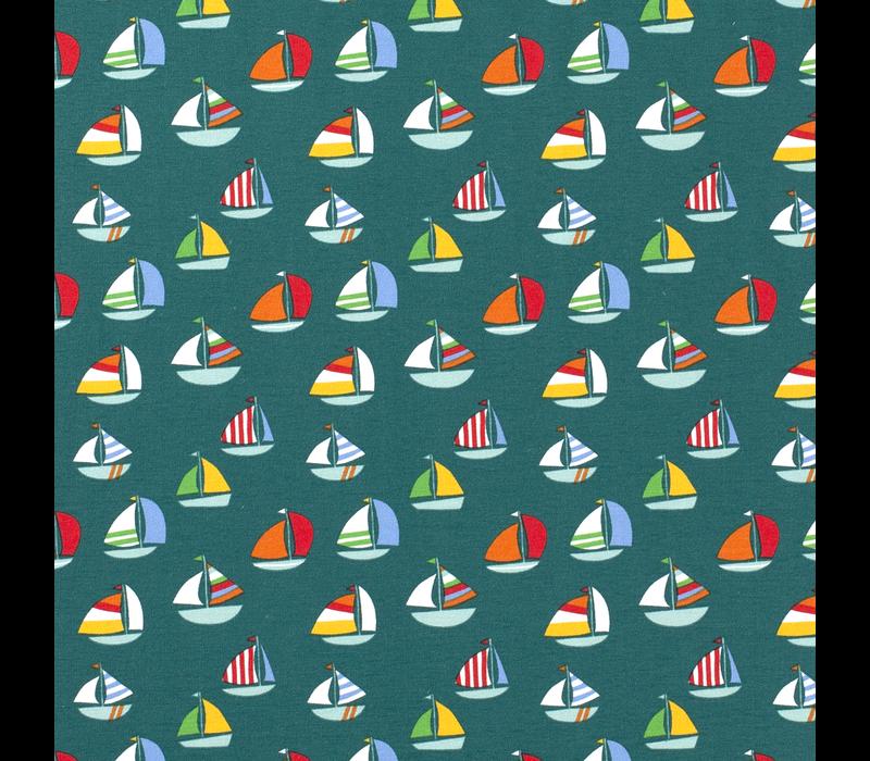 Tricot Petrolgreen Boats