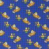 De Stoffenkamer Tricot Royal Blue Lego Scene