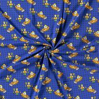 Tricot Royal Blue Lego Scene